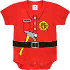 Red Fireman Baby Newborn Infant One Piece Suit
