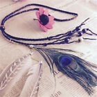 Feather headdress Hippy Bohemian Indian Head bands Festival Party Carnival