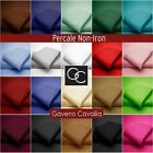 180 TC Percale Quality Non-Iron Valance Sheet PolyCotton Available in 20 Colors