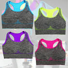 New Hot Style Sweat Absorbing Seamless Marled Sports Bra with removable pads
