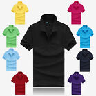 Hot Cotton Short Sleeve T Shirt Men's Polo Tee Casual Sports T Shirt Slim Fit