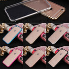 Ultra Thin Aluminum Metal Bumper Clear Back Case Cover SKin for iPhone 6 Plus 5s