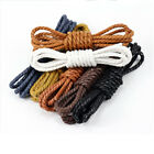 New Arrivel Men Women Round Waxed Casual Shoelaces Leather Shoes Boot Laces
