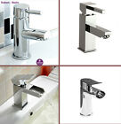CHROME Brass Tap Mixers for Cloakroom Bathroom Countertop Basin Sink Popup waste