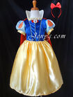 #SW3 Fairytale Princess Sn0w White Dress Up for Christmas Party Birthday Costume