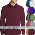 Mens DRESS SHIRTS Stylish Slim Fit Stretch Cotton Casual Button Down Long Sleeve