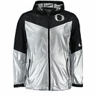 new mens S/M/L niKe velocity oregon ducks hooded sweatless jacket chrome/black