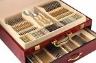 75-Pc Flatware Set 18/10 Stainless Silverware, 24K Gold Hostess Service for 12