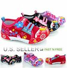 Girl's Toddler Little Kid Flower Canvas Shoes Infant Baby Soft Sole Stick Lace