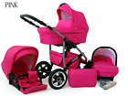 Baby Pram Buggy Stroller 3 in 1 Pushchair Car Seat Carrycot Travel System  <br/> FORWARD&amp;REAR FACING MODE,Rain Cover,Mosquito Net &amp; MORE