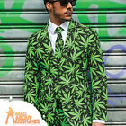 Cannaboss Oppo Suit Mens Stag Cannabis Leaf Fancy Dress Outfit New