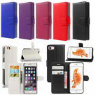 Pu Leather Flip Cover Wallet Card Case For iPhone4g/4s/ 5/5S/SE/6/6S/7/ 7 Plus