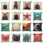 2016 Vintage Cotton Linen Pillow Case Sofa Waist Throw Cushion Cover Home Decor