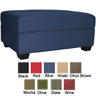 Storage Bench and Ottoman Microfiber Suede or Faux Leather Choose Color!!!