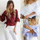 Women  Casual Off-shoulder Long Sleeve Sexy Top Blouse T-shirt Autumn Shirt Tops