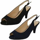 Ladies Anne Michelle - Peep Toe Sling Back Shoes