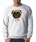 Crewneck SWEATSHIRT Nature Dog Breed Pug Pet Lover