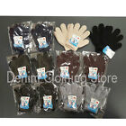 12pairs Girl Boy Winter Solid Mittens Knitted Warm Magic Glove Children Kids Lot