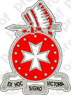 Sticker Us Army Unit  14th Field Artillery Regiment With Text - 1st Bn  Crest