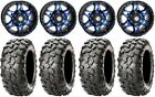 "STI HD7 14"" Wheels Blue/Black 28"" Clincher Tires Honda Pioneer"