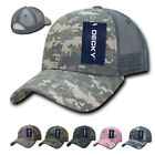 DECKY Structured Camo Trucker Pre Curved Bill 100% Cotton Caps Hats