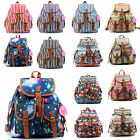 Ladies Large Canvas Multicolor Backpack Rucksack College School Bag
