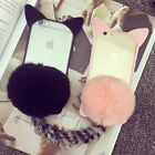 3D Cute Kitty Tail Super Soft Fuzzy Fluffy Fur Warm Case for Iphone 5/6s/6splus