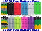 2 X 18650 Two Battery Cover Silicone Protective Cover Case Sony VTC 3 4 5