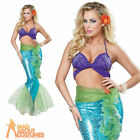 Adult Mythic Mermaid Costume Under the Sea Mythical Fish Fancy Dress Outfit New