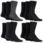 Gentle Grip - 3 Pack Mens Non Elastic Wool Loose Top Business Socks (4 Designs)