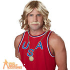 Adult 70s Playboy Wig and Moustache Set Keith Lemon Fancy Dress Accessory New