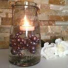 Floating Pearl Centerpiece - Smoke Gray Jumbo Pearl Mix Size Vase Filler Pearls