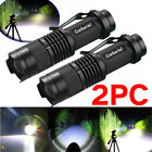2PCS Ultrafire Tactical Police 50000Lumen Zoomable T6 LED Flashlight Torch Lamp
