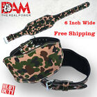 DAM CAMO WEIGHT LIFTING BELT. WEIGHTLIFTING BODYBUILDING GYM BACK SUPPORT NEW