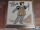 Vintage LANE promo Christopher Columbus Tile FRADELL EARLY AMERICAN SHOP Chicago