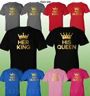 Couple Matching Shirt King and Queen Couple Clothes T-Shirts His Hers TShirts