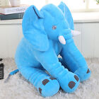 Baby Kids Long Nose Elephant Doll Soft Plush Pillow Stuff Toys Lumbar Cushion
