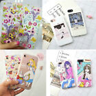 Cute Cartoon Soft TPU Silicone Rubber Phone Back Pattern Case Cover for iphone 7