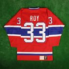 1992 93 Patrick Roy Montreal Canadiens Mitchell  Ness Red Authentic Jersey Mens