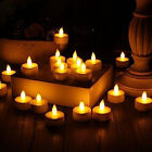 24x Flameless Flickering Led Tea Lights Home Décor Electric Candles with Timer