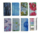 For BLU luxury Wallet card holder Magnetic flip Leather case cover + stylus