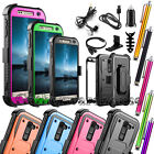 For ZTE Z988 / Zmax PRO /Imperial Max Hybrid Rubber Case Cover w/ Accessories