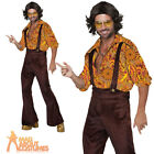 Adult Jive Talkin' Disco Dude Costume Mens 70s Boogie Fever Fancy Dress Outfit
