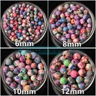 Mixed Flowers Polymer Fimo Clay Round Loose Beads DIY Finding 6~15mm