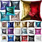 Reversible Sequin Two Toned Cushion Cover Home Decor Pillow Case Xmas Gifts DIY