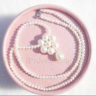 s254 NEW AAA 4-5mm 7-8mm Fashion single Style White Pearl necklace silver clasp