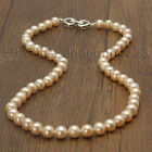 s345 new free shipping AAA 7-8mm 8-9mm white pink Freshwater Pearl Necklace