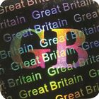 GB Great Britain Security Hologram Sticker Warranty Labels Tamper Proof 12x12mm
