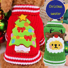 Pet Dog Cat Clothes Christmas Sweater Puppy Knitwear Outerwear Chihuahua Costume