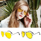Unisex UV400 HD Night Vision Men Women Glasses Yellow Driving View Sunglasses